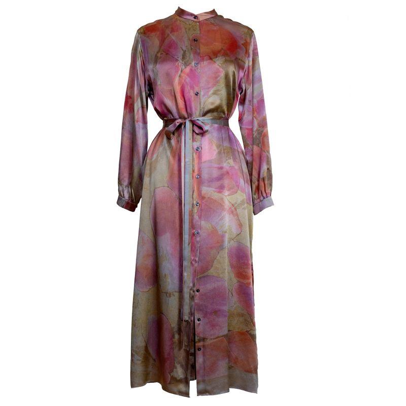 Petals Silk Shirt Dress image