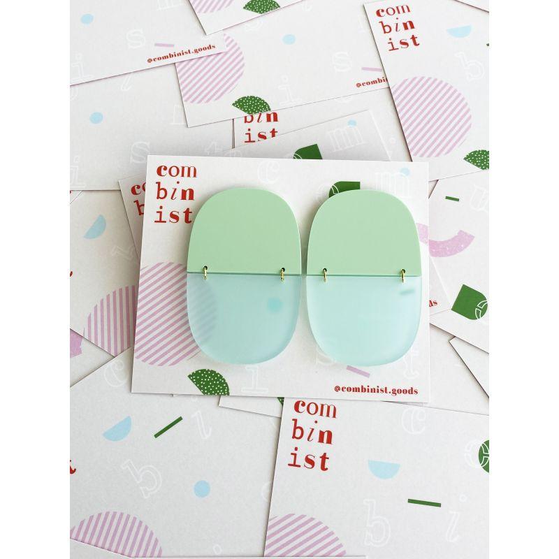 Chunk Frost & Mint Earrings image