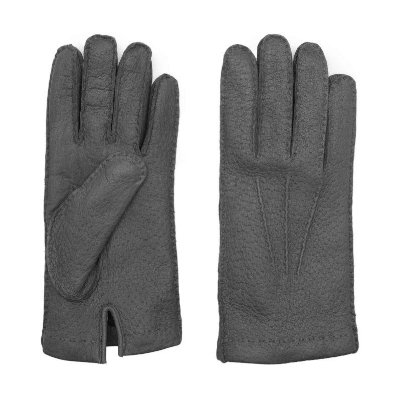 Handmade Peccary Leather Gloves Grey Salvatore image