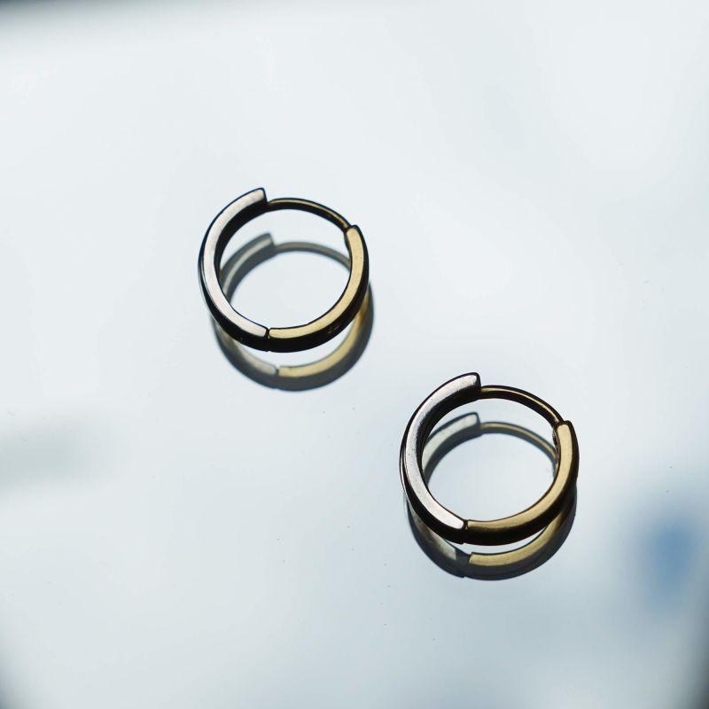 Pawnshop Signature Two-Tone Hoop Earrings image
