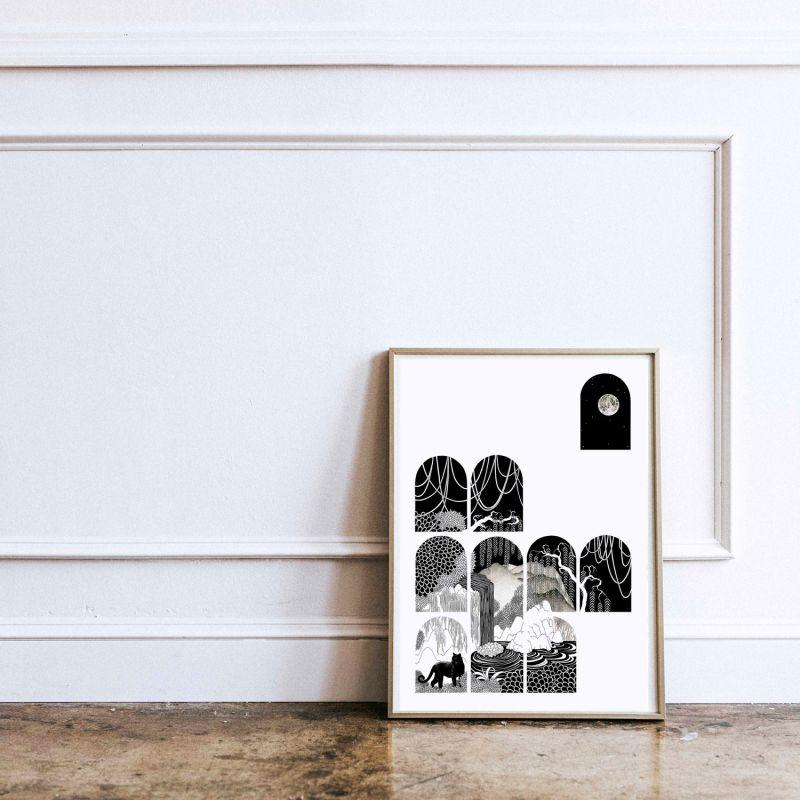 Peeking Through - Signed Art Print A3 image