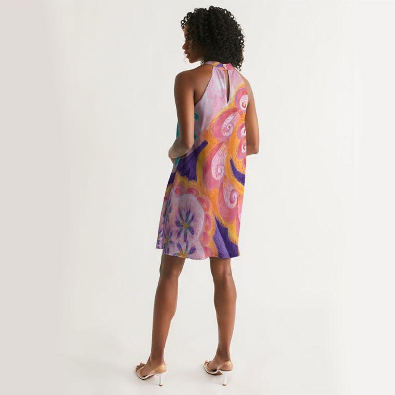 Halterneck Dress Spring Spiral image