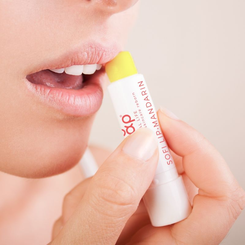 Sofilip™ Mandarin Lip Balm, 100% Natural Lip Care, Moisturising, Ultra Conditioning Lip Treatment image