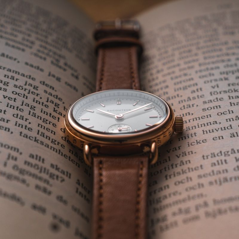 Earhart Rose Gold White - Coffee Suede image