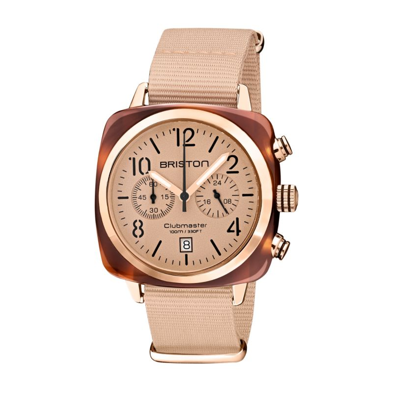 Briston Clubmaster Classic Terracotta Nude Colour With Rose Gold Finishings image