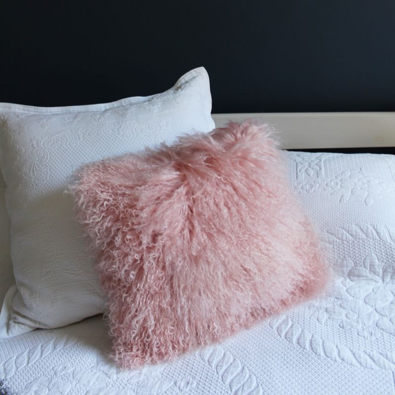 Peach Fluffy Cushion image