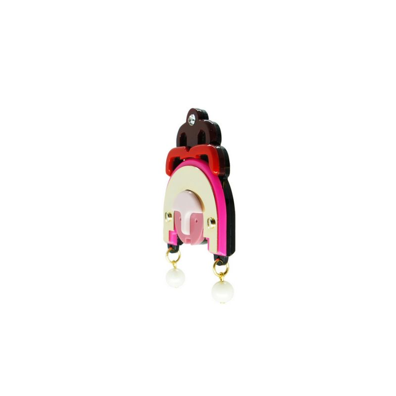 Acrylic Handmade Brooch Ixchel - Pink image