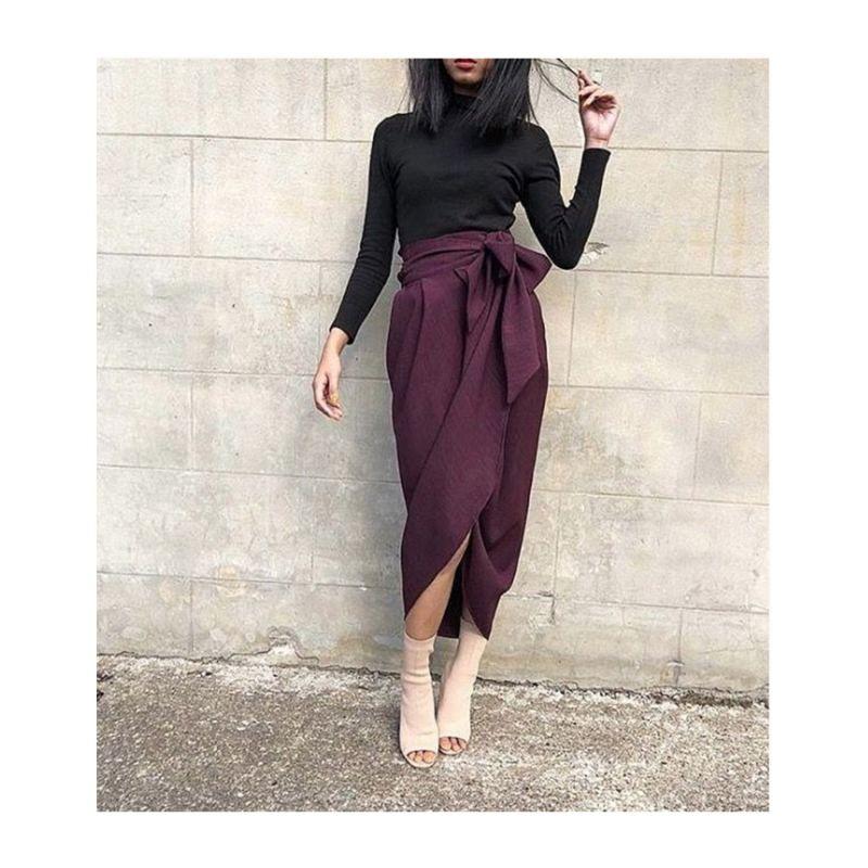 Blake Plum Tulip Skirt image