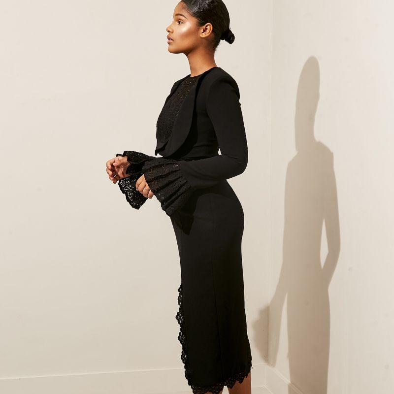Josee Midi Dress Black image