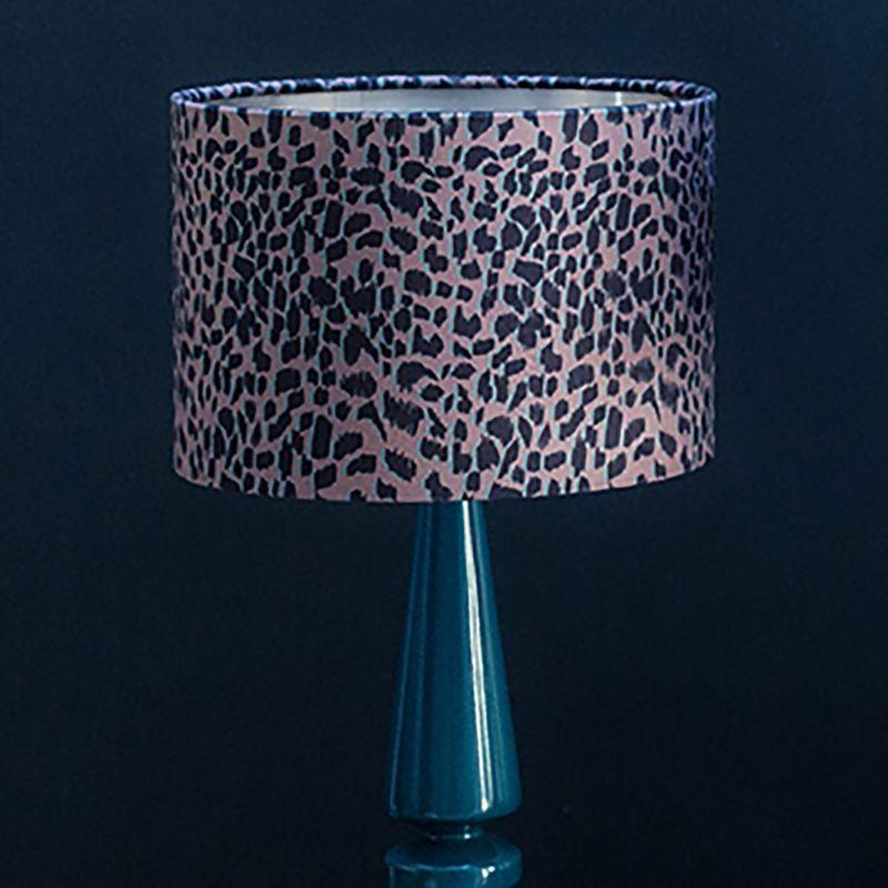 Animal Print Soft Velvet Lampshade With Metallic Inner - 35X23Cm image
