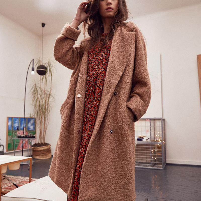 Wool Camel long Coat image