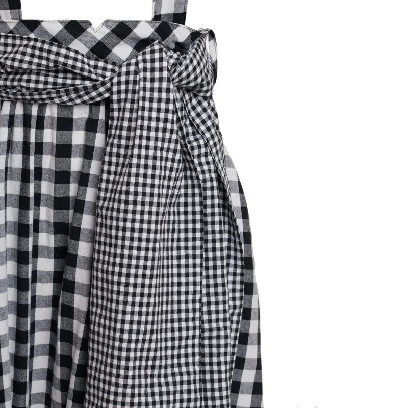 Black Gingham Suspender Skirt image