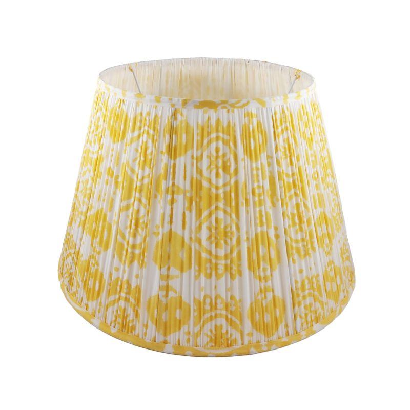 Soleil Ikat Gathered Cotton Lampshade 45cm image
