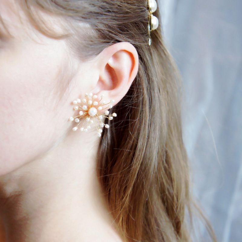 Baby's Breath Freshwater Pearl Earrings image