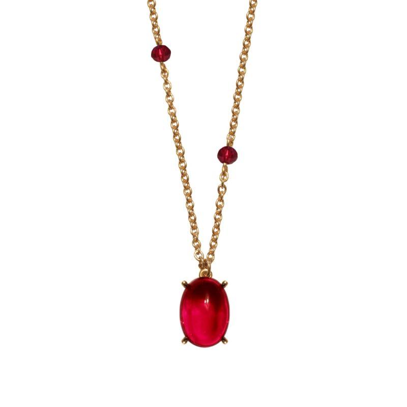 Roman Red Glass Neckace image