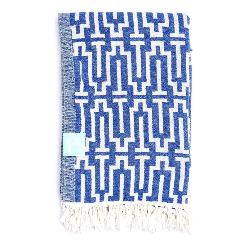 Blue Labyrinth Hammam Towel image