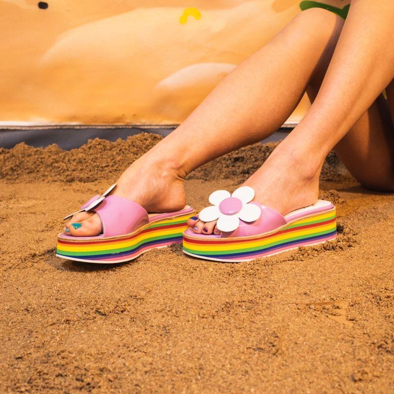 Alejandra G Lilac Flower Sandal image