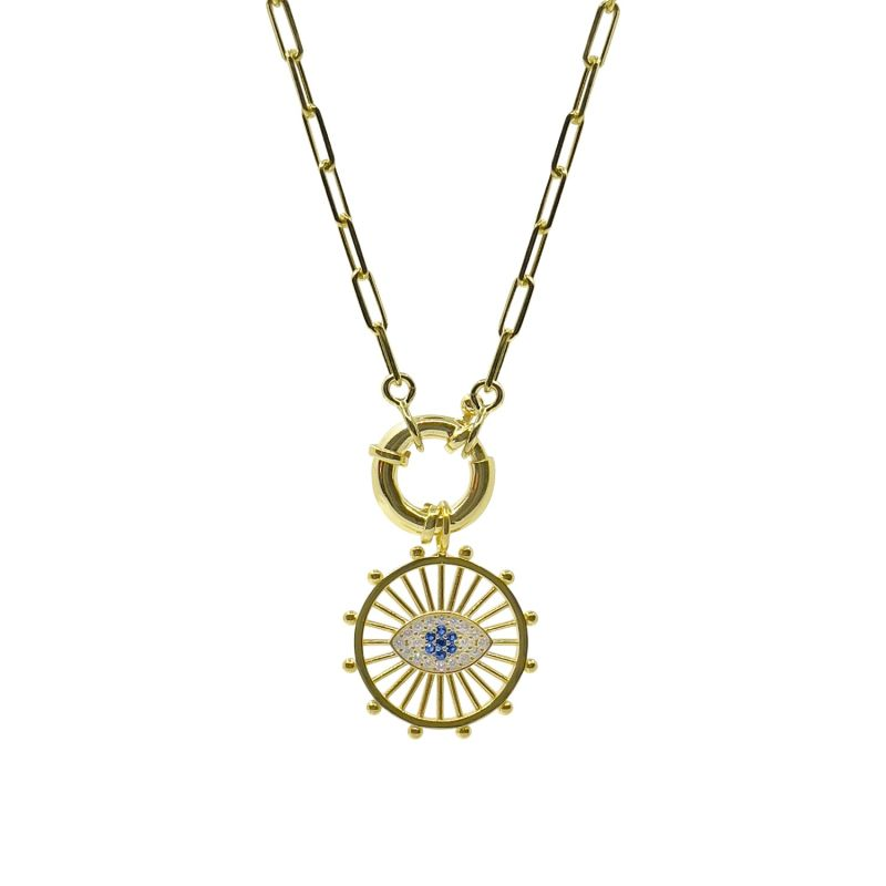 Evil Eye Chain Necklace - Cruise Collection image