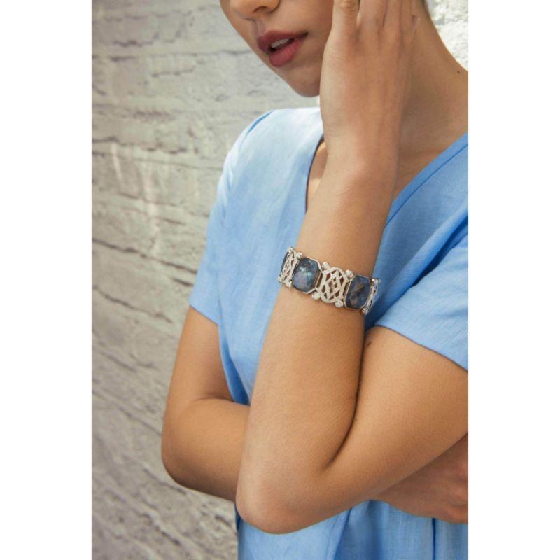 Sterling Silver Labradorite Bracelet image
