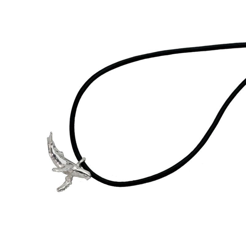 Koholā Humpback Whale Necklace - Adjustable Leather Cord image
