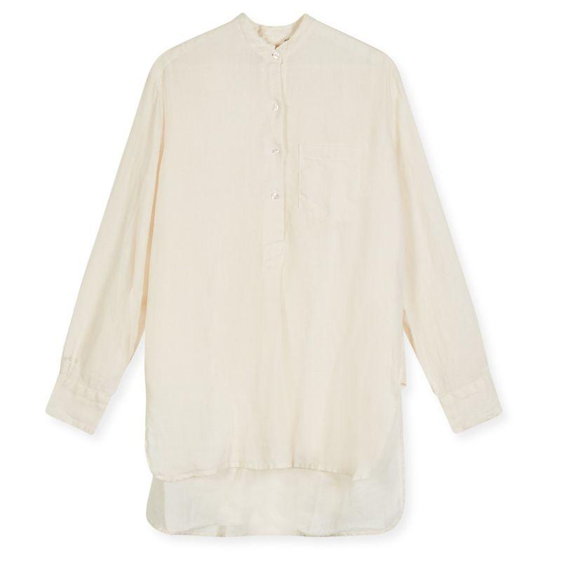 Women's Linen Tunic Shirt - Ecru image