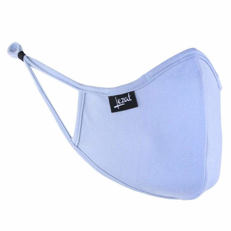 Dusty Blue Super Soft Face Mask image