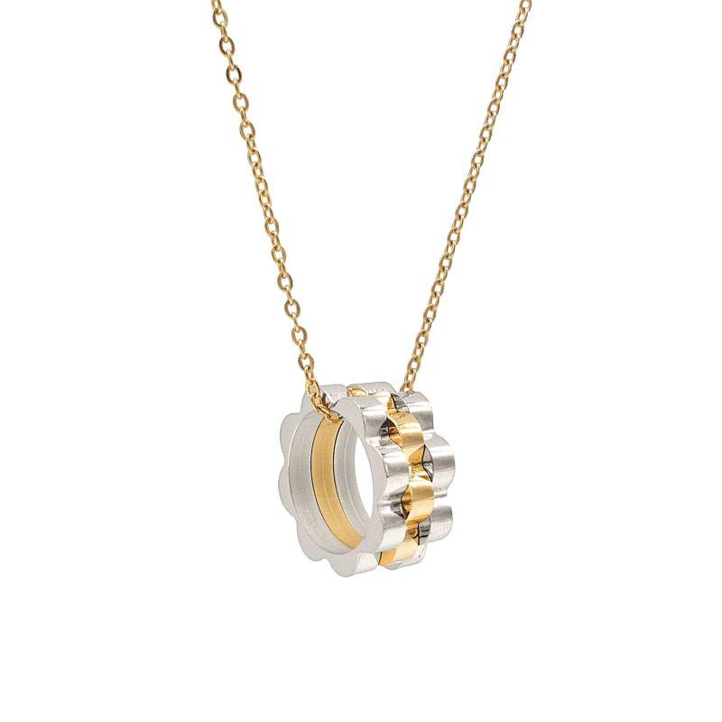 Timepiece Link Drop Pendant Necklace image