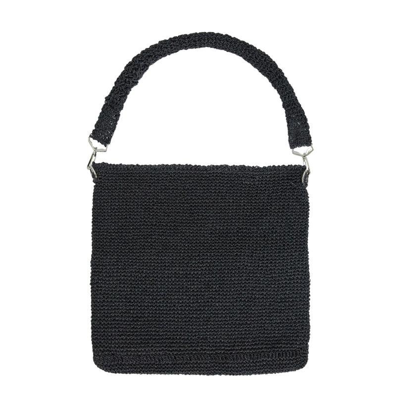 Leros Hand Crochet Tote in Black image