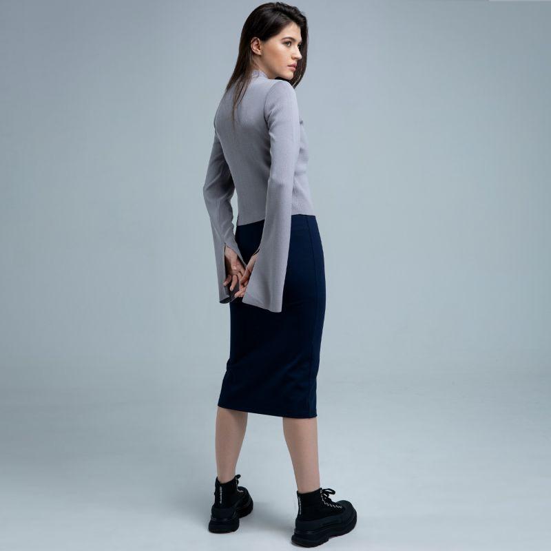 Vera Grey Knit Top image