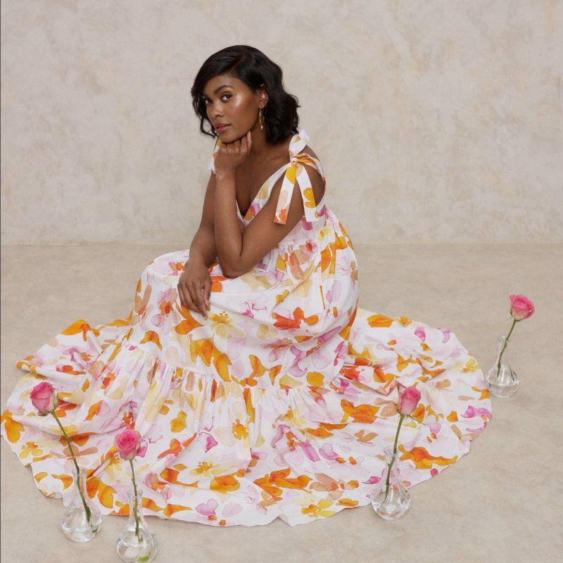 Olivia Tie-Strap Maxi Dress - Floral image