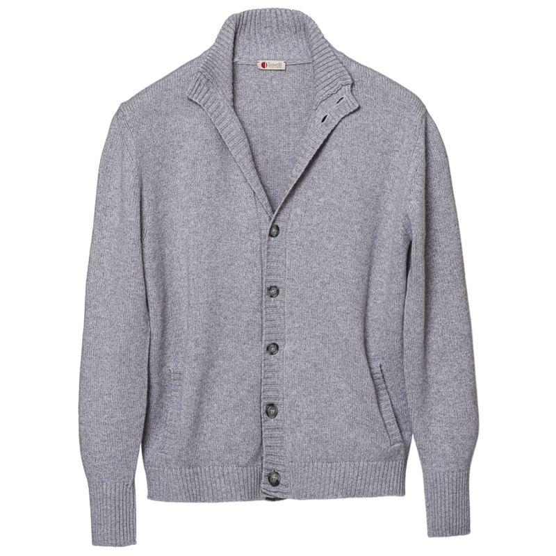 Cashmere Silk Merino Cardigan Sweater image