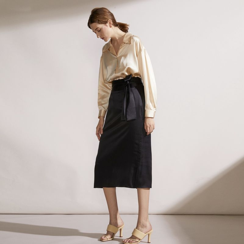 Resort Intense - Silk Pencil Skirt image
