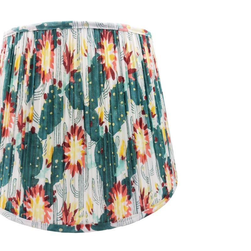 Thrive Tropical Gathered Cotton Lampshade 45cm image