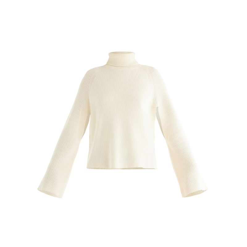 Cape Sleeve Jumper In Off White image
