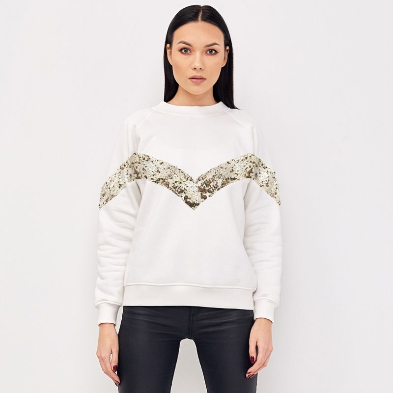 Elegant Ivory Jumper With Sequins image