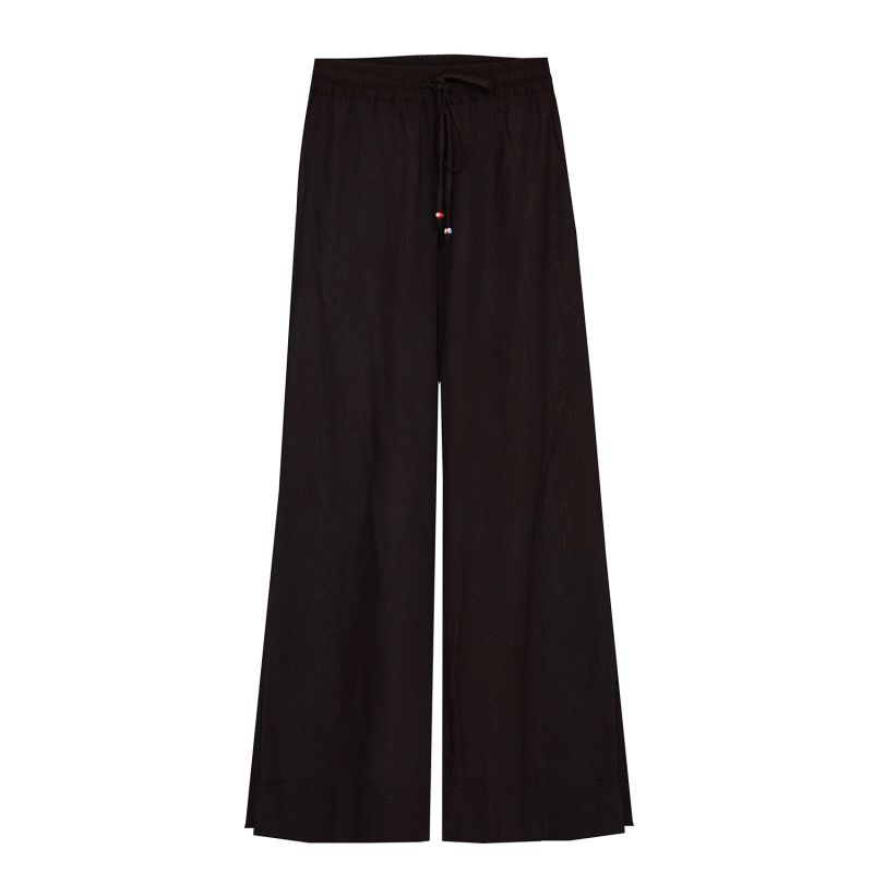 Pull-on Trousers Crinkle Organic Cotton in Black image
