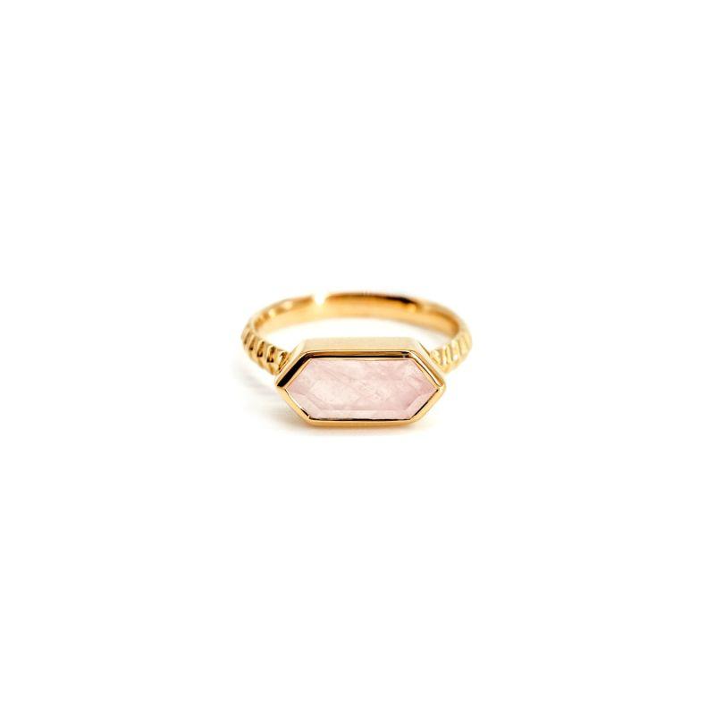 Lile Rose Quartz Gold Ring image