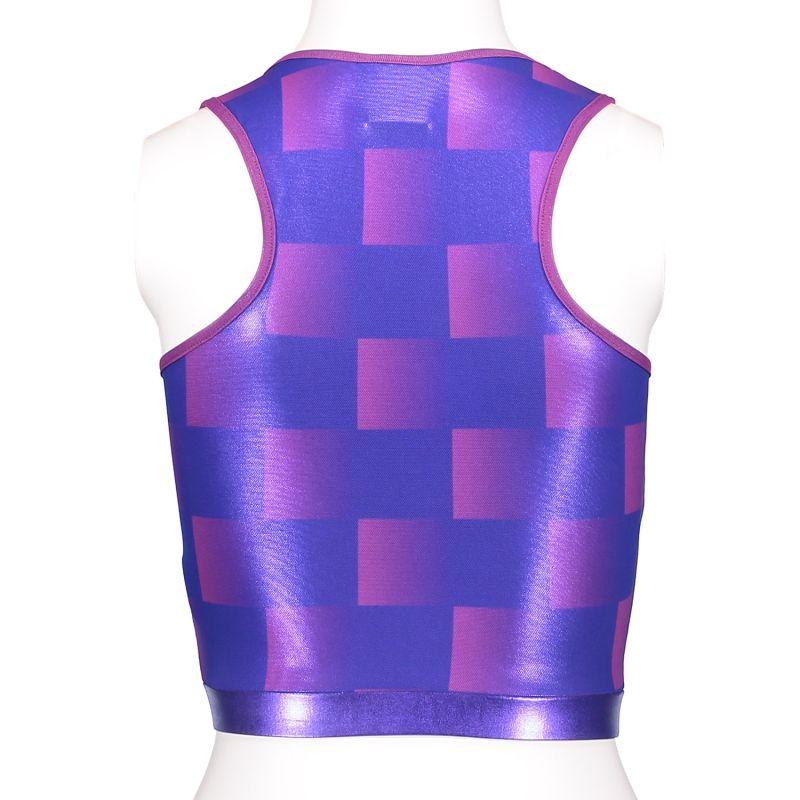 Purple Check Sportsbra & Crop Top image