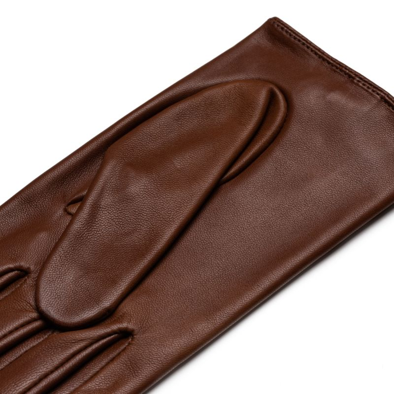 Rimini - Women'S Leather Driving Gloves In Saddle Brown image