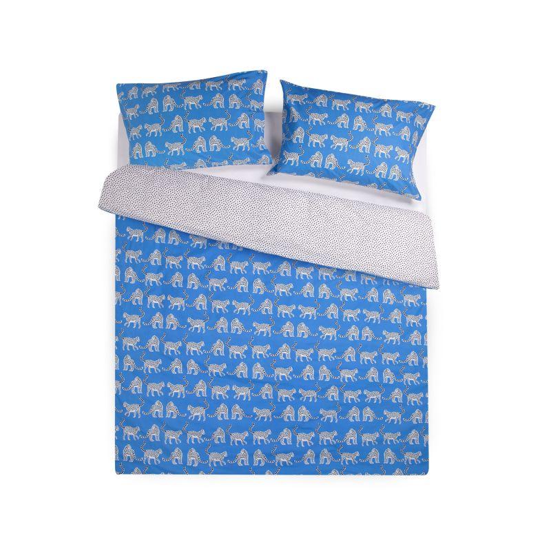 Snow Leopards Organic Cotton Double Duvet Set image