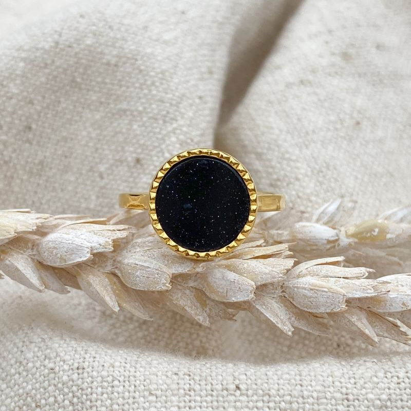 Raya Blue Goldstone Gold Ring image
