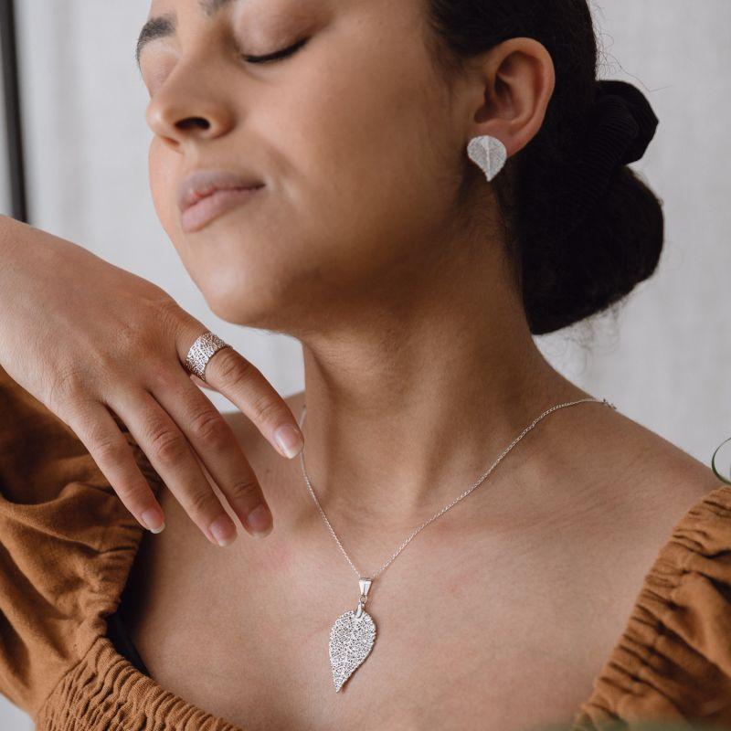 Folha Do Cerrado Ring - Adjustable - Silver image