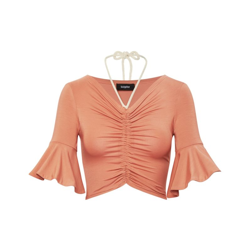 Cropped Ruffled Top image