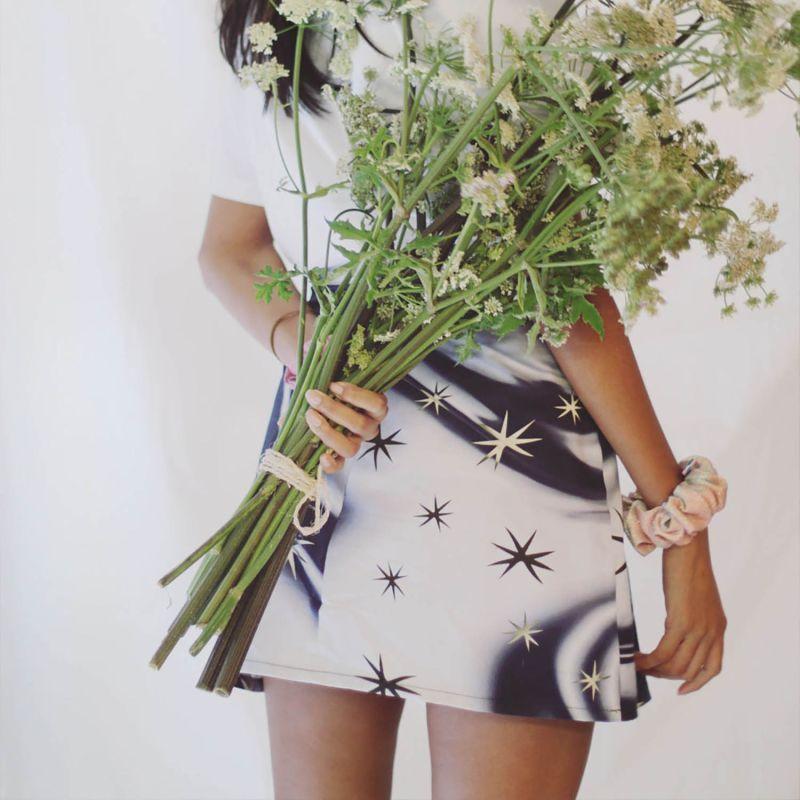 Navy Star Swirl Mini Skirt image