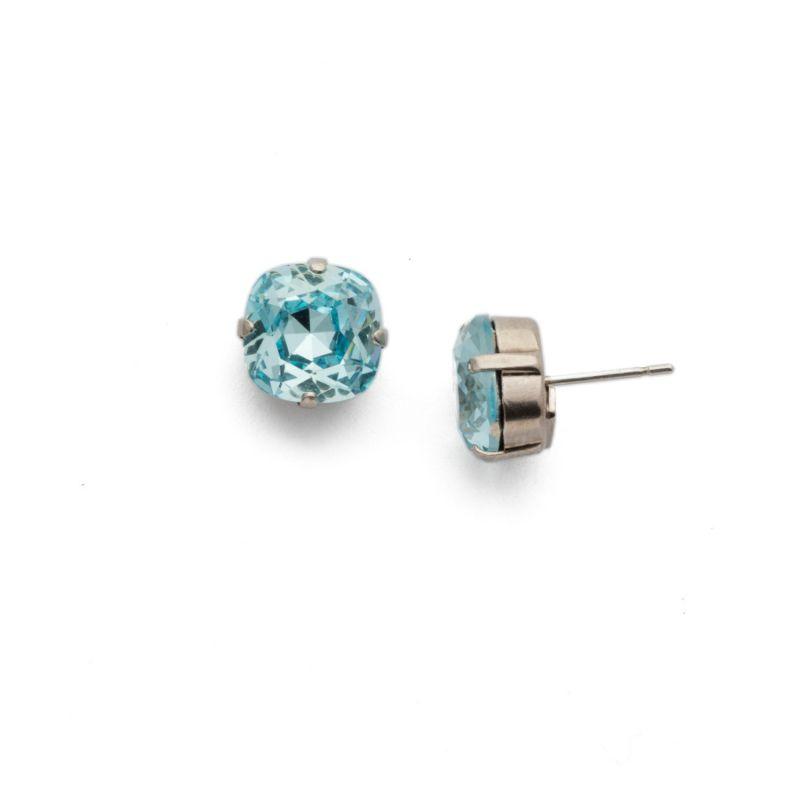 Halcyon Stud Earrings - Antique Silver Aqua image