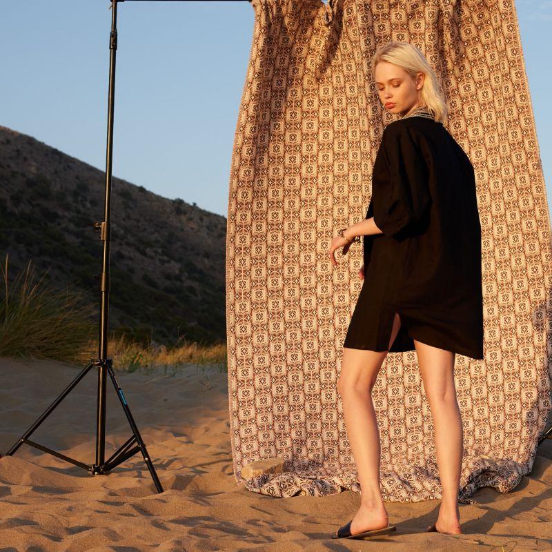 Simple Life Black Shirt Dress image