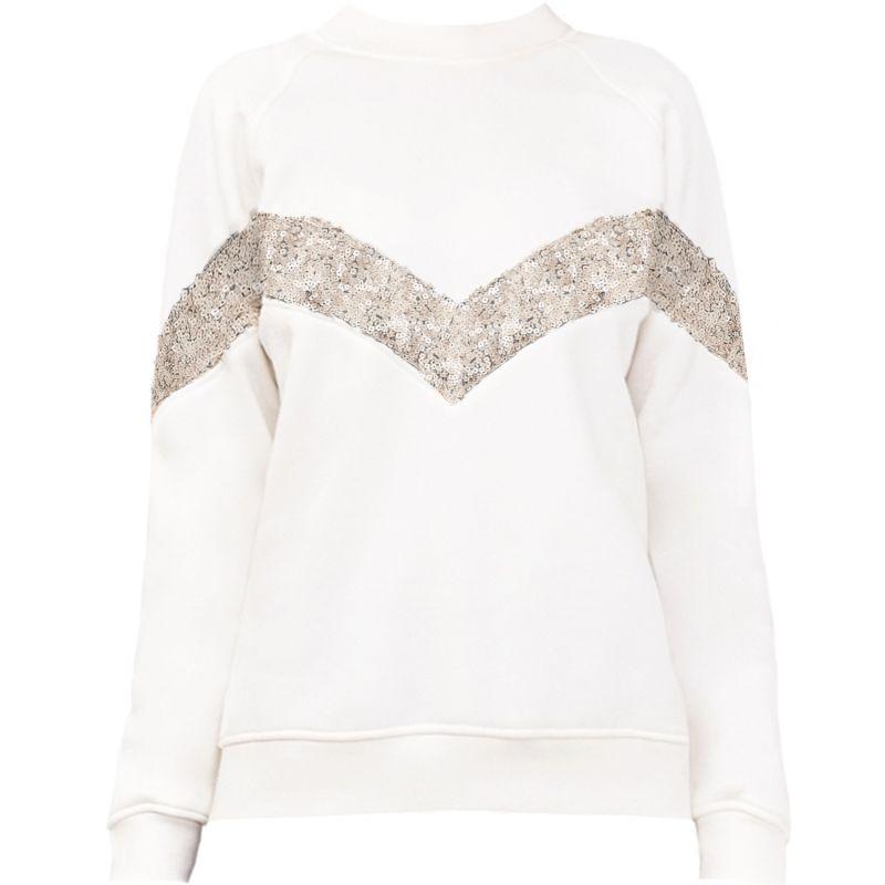 Elegant Jumper Ivory with Sequins image
