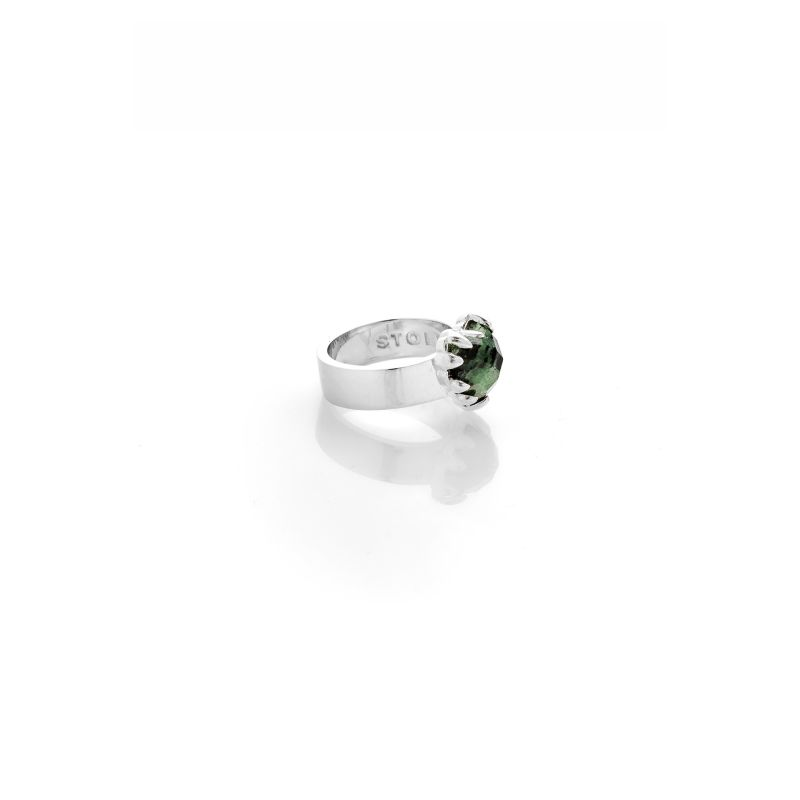 Love Claw Ring Green Zoisite image