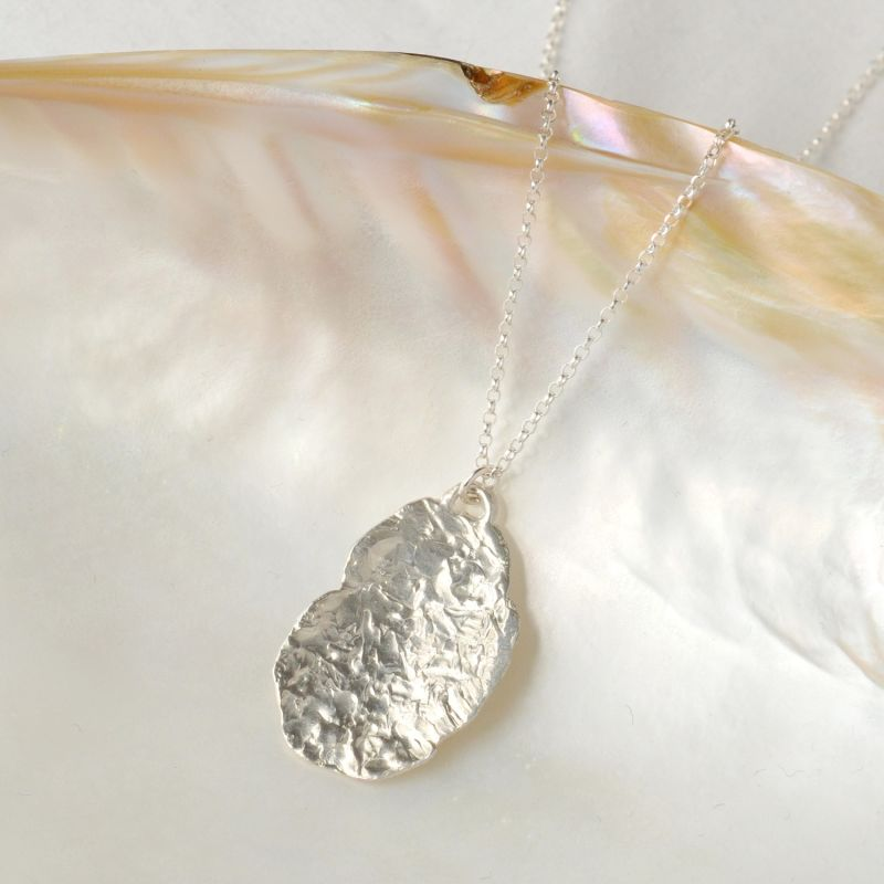 Silver Large Organic Medallion image