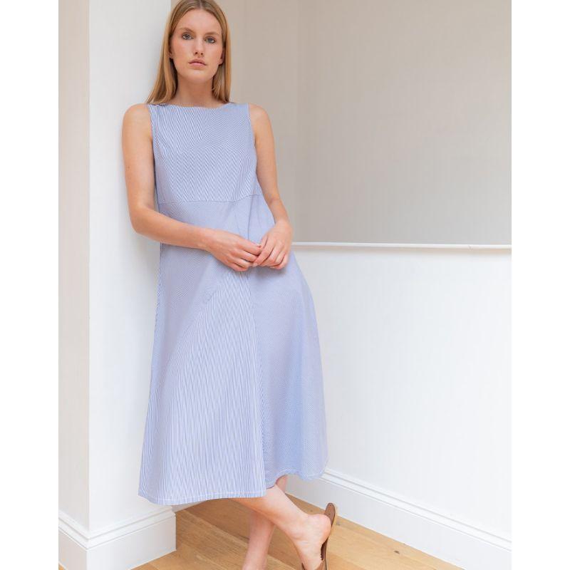 Estee Cotton Dress in Blue image